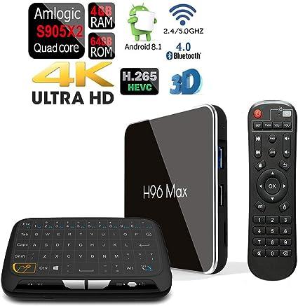 H96 MAX-X2 Amlogic S905-X2 Dual WiFi 5G Android 8.1 Bluetooth 64GB//4GB TV Box
