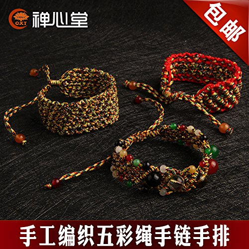 Five colorful hand-woven rope bracelets hand row of red string bracelet natal transporter men and women hand rope