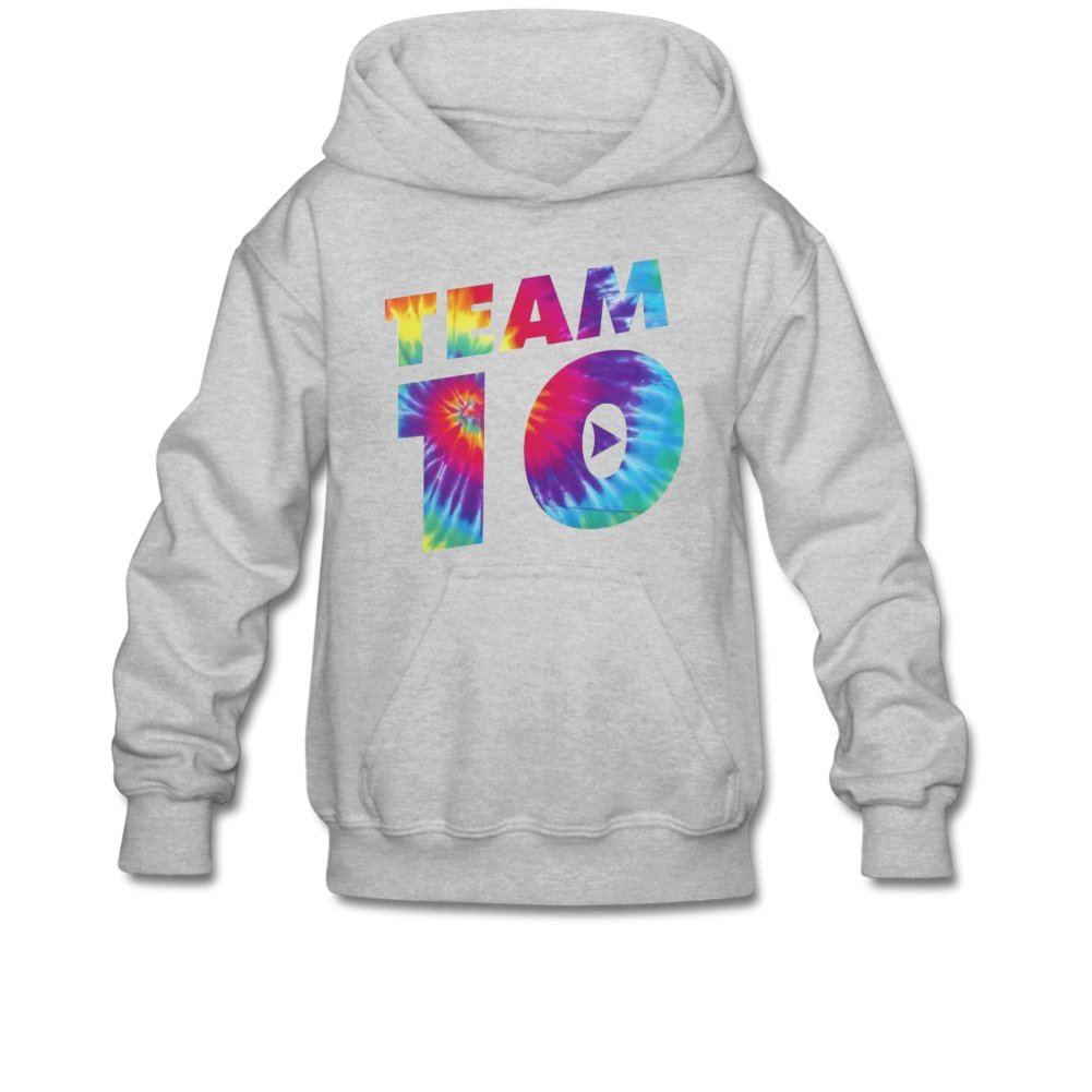 Aliensee Youth Colorful Team 10 Hoodie Sweatshirt Suitable for 10-15yr Old