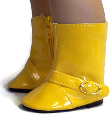 Bumble Bee Rain Boots  Fits 18 inch American Girl Dolls
