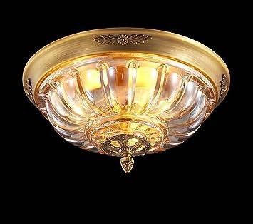 YDYG Lámpara de Techo de Cobre Completo, lámpara de Techo ...