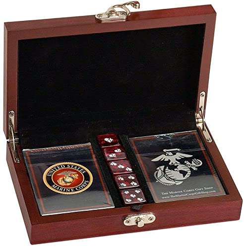 Marine Corps Playing Cards with Dice Gift Set