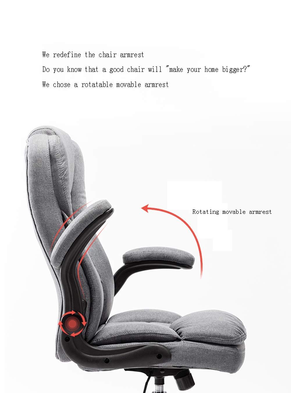 Kontorsstol, vilande dator kontorsstol, spelstol, hög rygg verkställande stol, ergonomisk nätstol med armstöd och nackstöd-svart BLÅ
