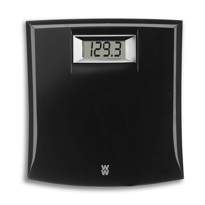 WW Scales by Conair Digital Precision Bathroom Scale, 330 lb. capacity, Black