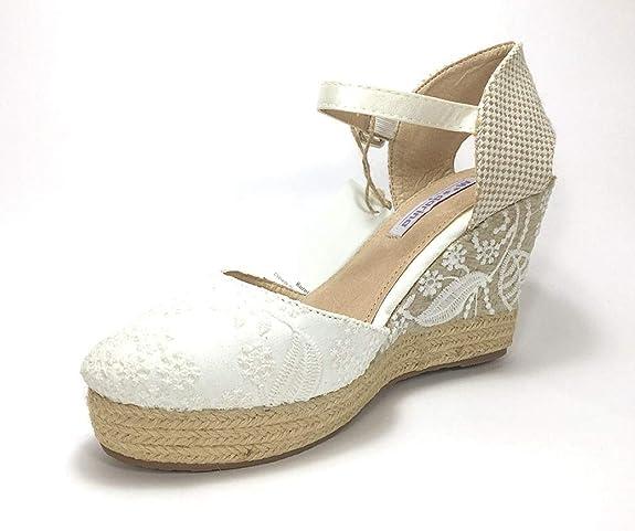 BUONAROTTI ESPARDEÑA Color Blanco Talla 41: Amazon.es: Zapatos y complementos