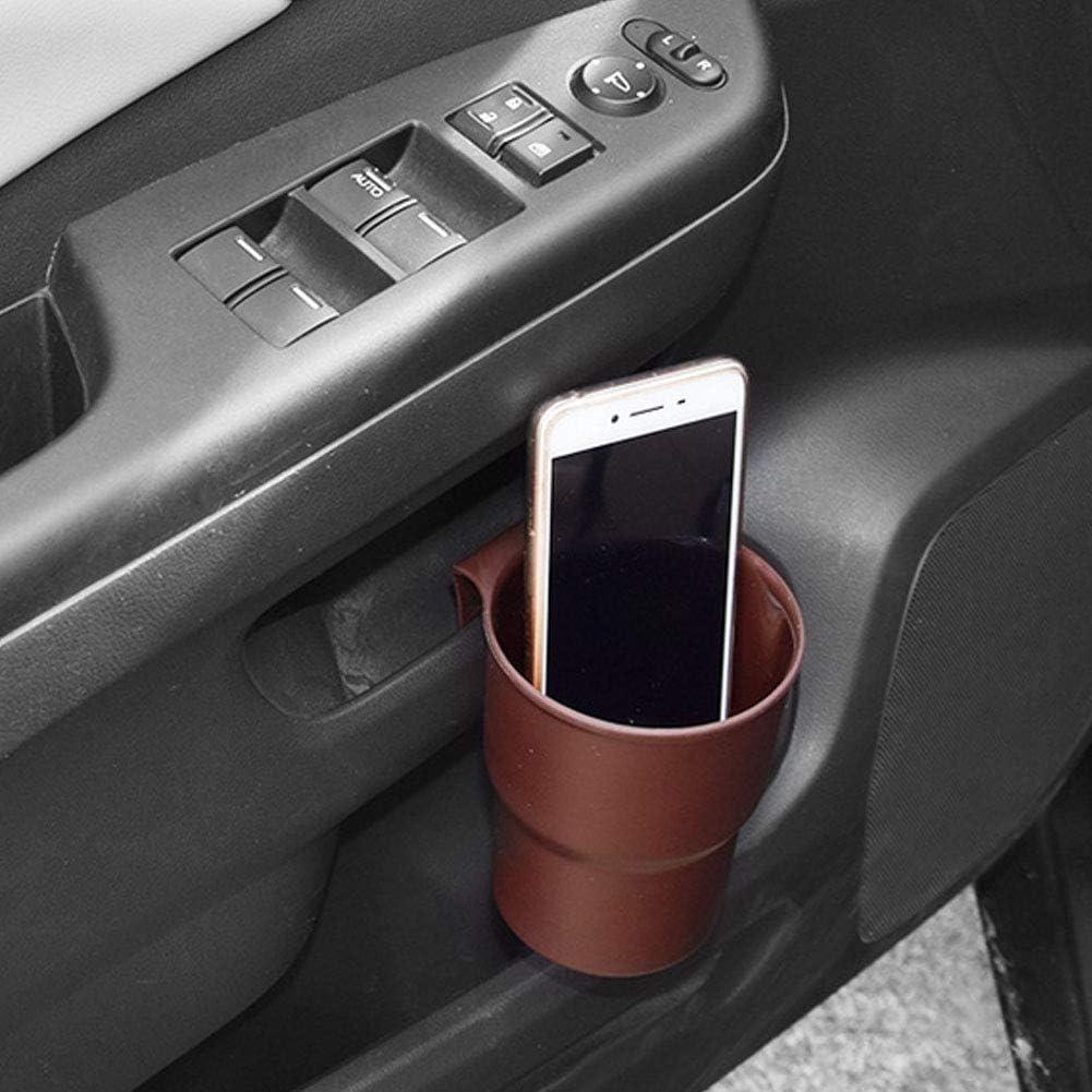Ddg Edmms Auto Getränkeflaschenhalter Fahrzeugmontierte Aufbewahrungsbox Multifunktionaler Getränkehalter Mit Auto Auslass Clip Braun Auto
