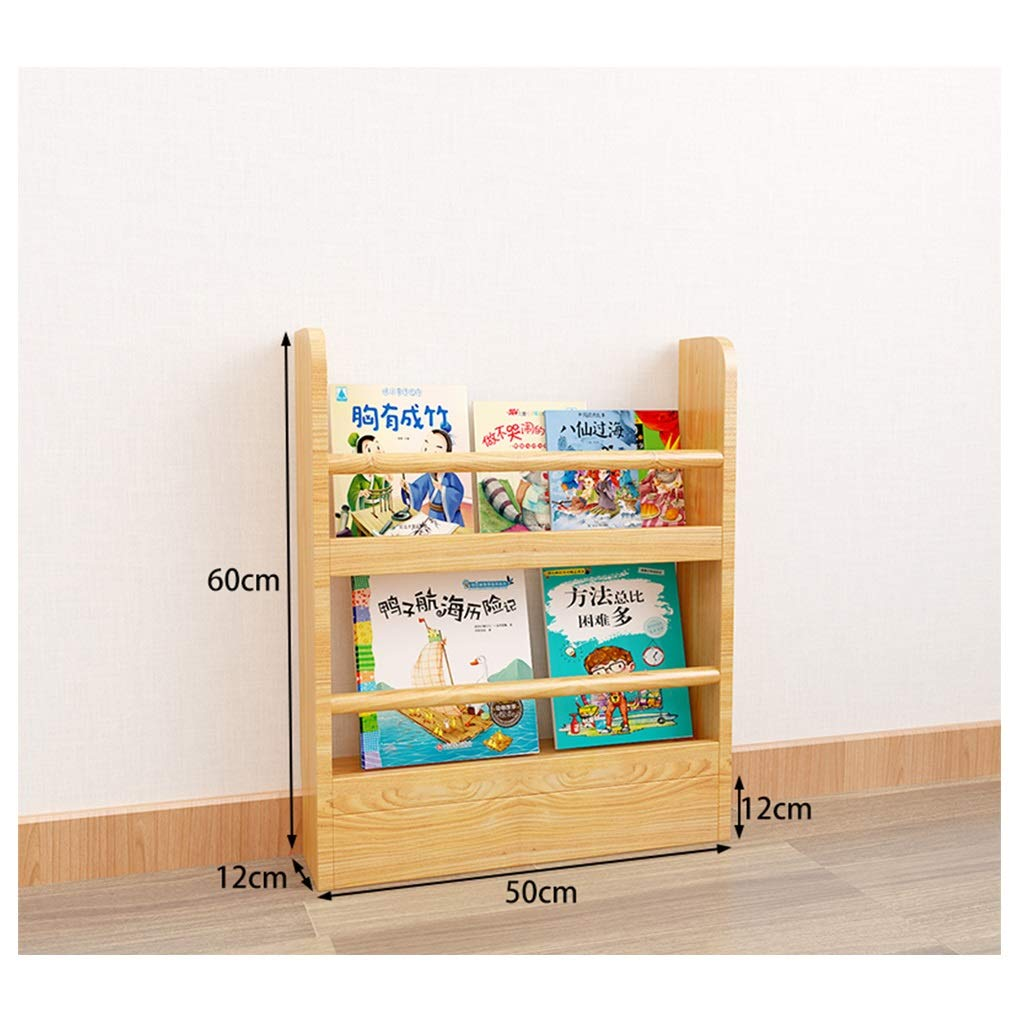 CDSRB Bookcases for Living Room, Book Shelving Unit Display Rack Storage Organiser Easy to Assemble for Living Room Floor Children's Small Bookshelf (Size : 60x50x12cm) by CDSRB