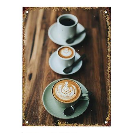 BORJOR Coffee -Cartel de Pared estaño Placa Metal Pintura ...