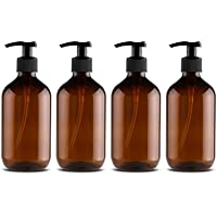 4PCS Empty Lotion Pump Bottles Plastic Shower Gel Bottle 500ML Hand Container Dispenser Spray