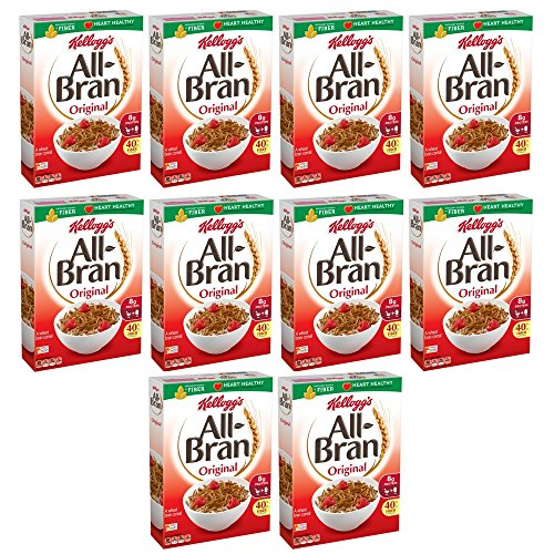 All-Bran Cereal, Original, 18.3-Ounce Boxes (Pack of 10) -
