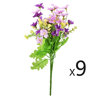 Amazon conjugal bliss 9 bunch new products artificial daisy conjugal bliss 9 bunch new products artificial daisy mini silk flowers lifelike cineraria bouquet arrangement mightylinksfo