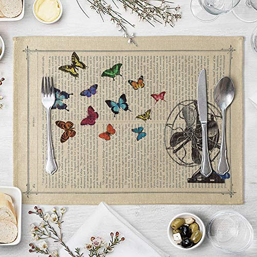 memorytime Animal Girl Book Page Heat Insulated Pad Kitchen Dining Table Mat Placemat Decor Kitchen Dining Supplies - 2# by memorytime (Image #7)