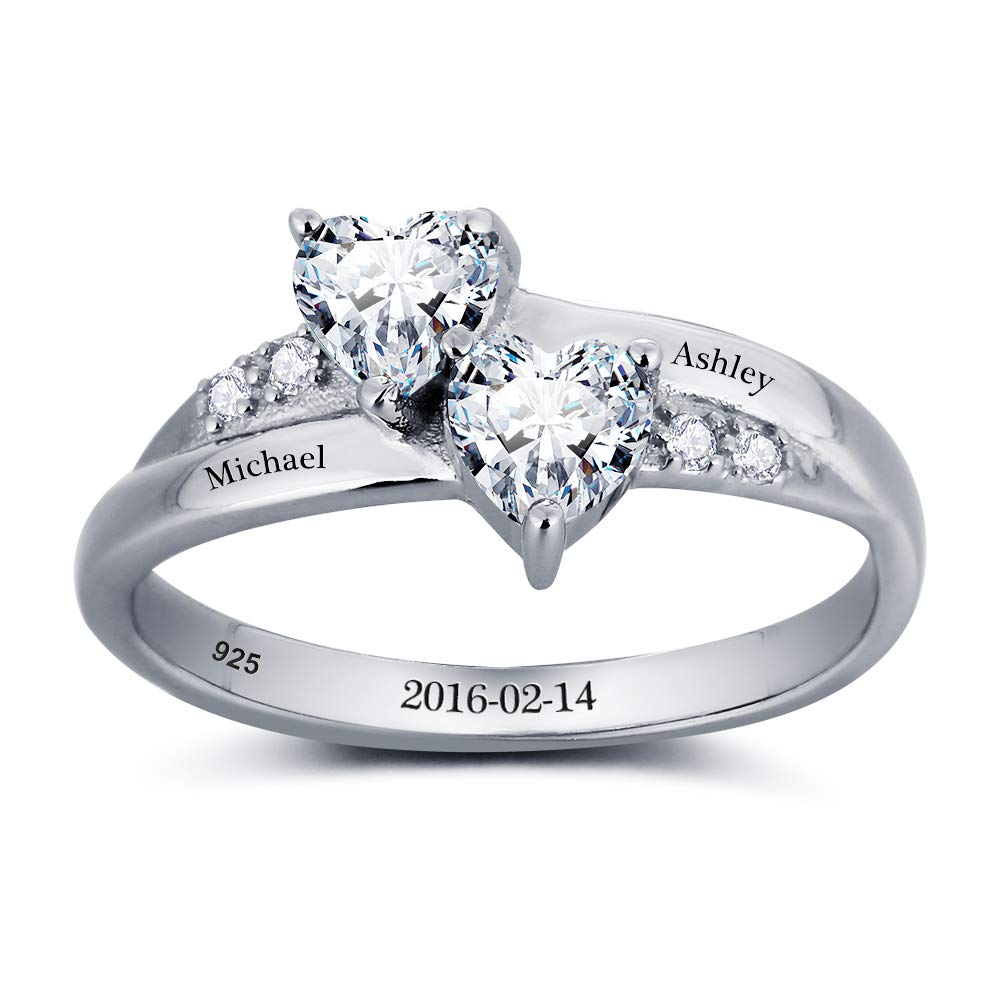 Lam Hub Fong Personalized Engagement Rings Women Mothers Simulate Birthstones Rings Wedding Promise Rings Her AS100226-101789