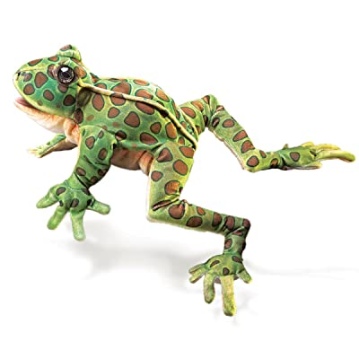 Folkmanis Leopard Frog Hand Puppet: Toys & Games