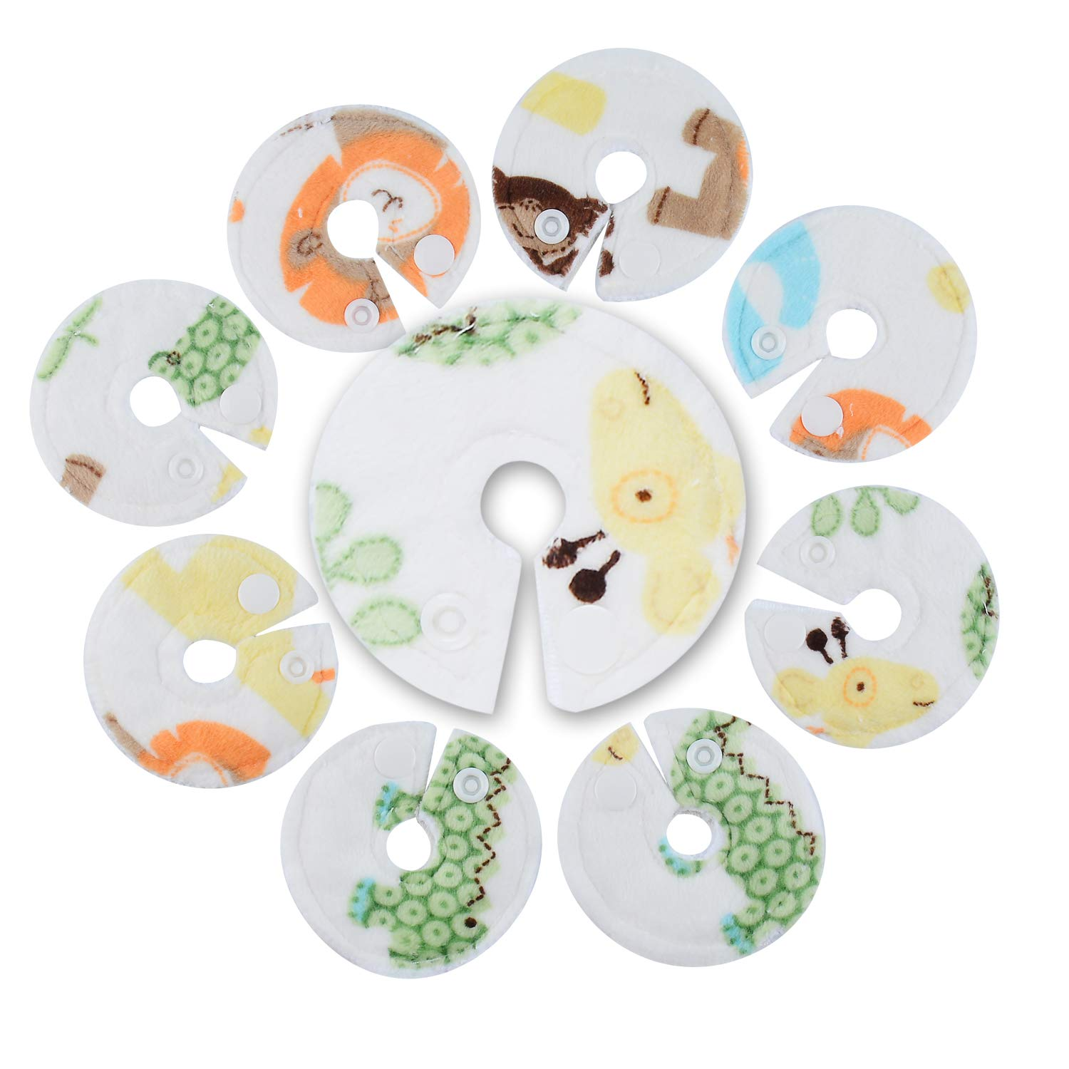 Ian's Choice Tube Pads Organic Bamboo Covers for Feeding Support Extra Soft and Absorbent Button Covers (8 Pack)