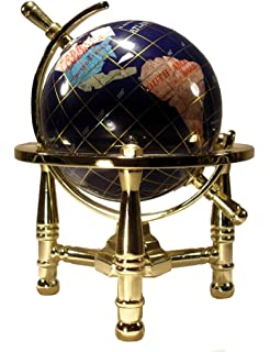 Amazon unique art 10 inch by 6 inch blue lapis ocean table unique art 6 inch by blue lapis ocean mini table top gemstone world globe with gumiabroncs Image collections