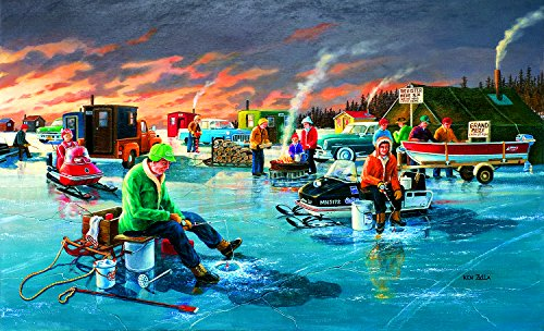 SunsOut Fishing Contest 550 Piece Jigsaw Puzzle