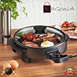 Bagonia 1500W Electric Multipurpose Cooker With Unbreakable Lid (36 CM)(Black)