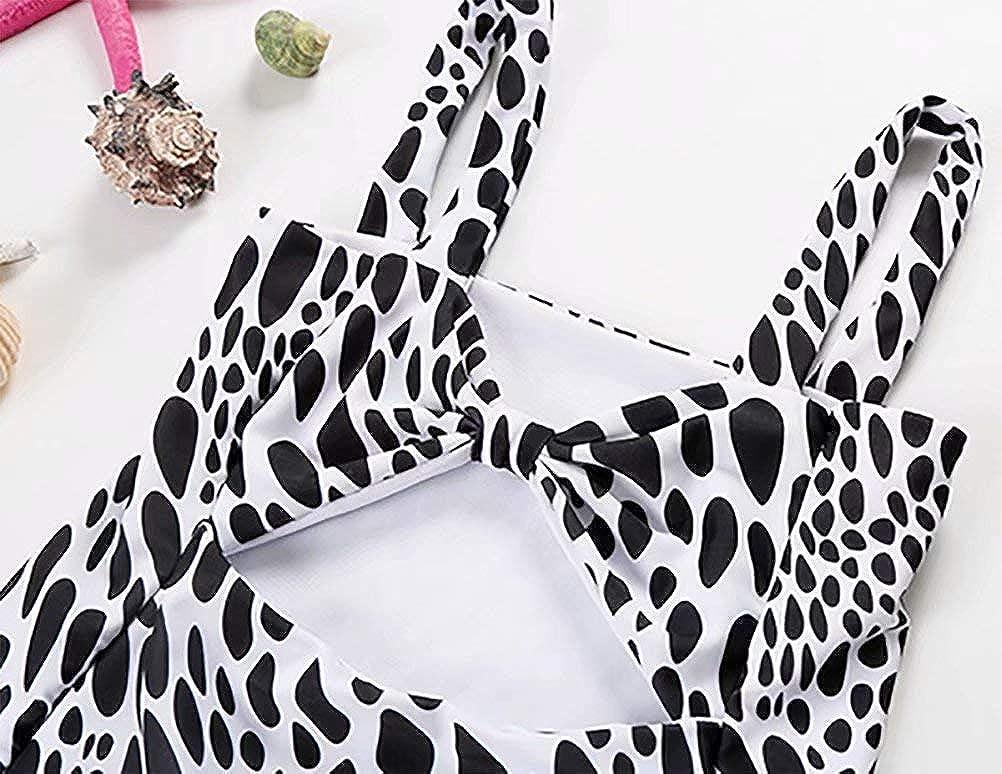 Little Baby Girls Leopard Swimsuit One Piece Water Droplet Swimwear Rash Guard Sun Protection UPF50+