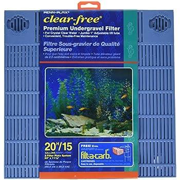 Penn Plax Premium Under Gravel Filter System - for 20 Gallon Fish Tanks & Aquariums