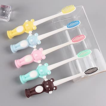 Amazon.com : 4PCS Baby Soft-bristled Toothbrush Specially Designed ...