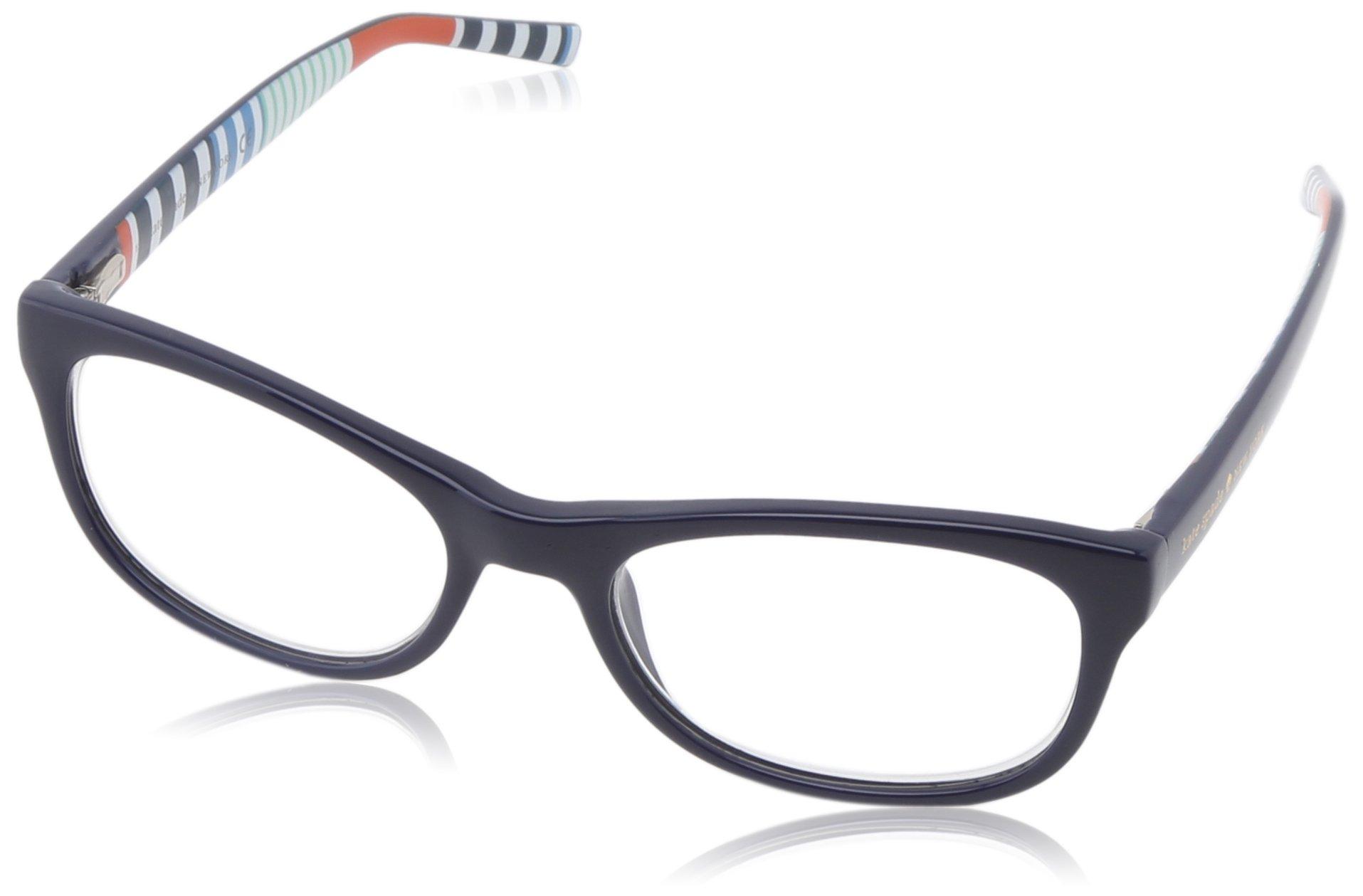 Kate Spade Women's Letti Rectangular Reading Glasses,Navy Stripe 1.5,51 mm
