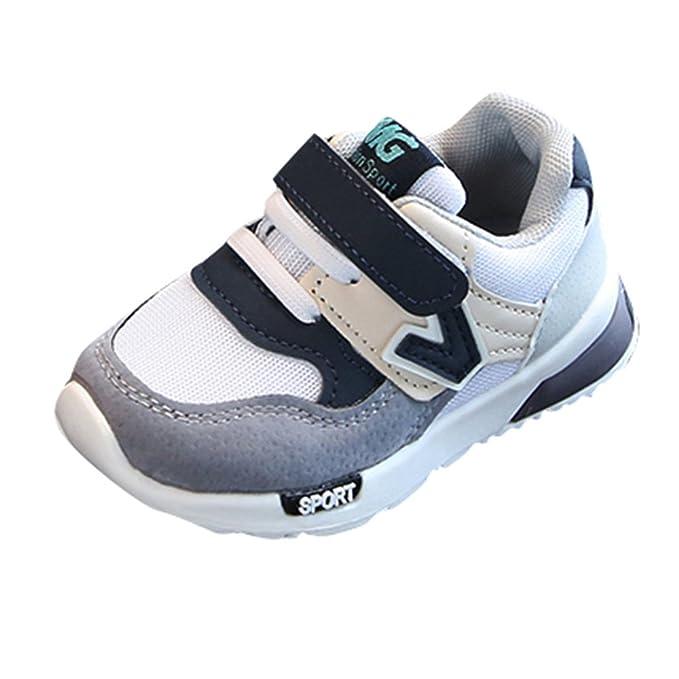 YanHoo Calzado Deportivo Transpirable para Hombre y Mujer Zapatillas Antideslizantes Niños pequeños Zapatillas de Deporte Casuales Malla Suave Zapatos con ...