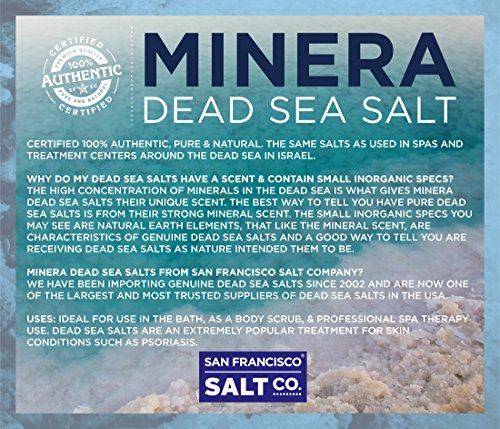 Minera Dead Sea Salt, 20lbs Fine. 100% Pure and Certified. Natural treatment for psoriasis, eczema, acne and more by Minera (Image #7)