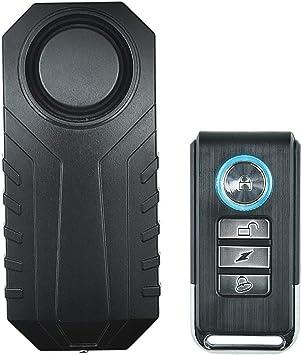 Bicycle Vibration Alarm Anti-theft Alarm Remote Control Alarm Waterproof Black