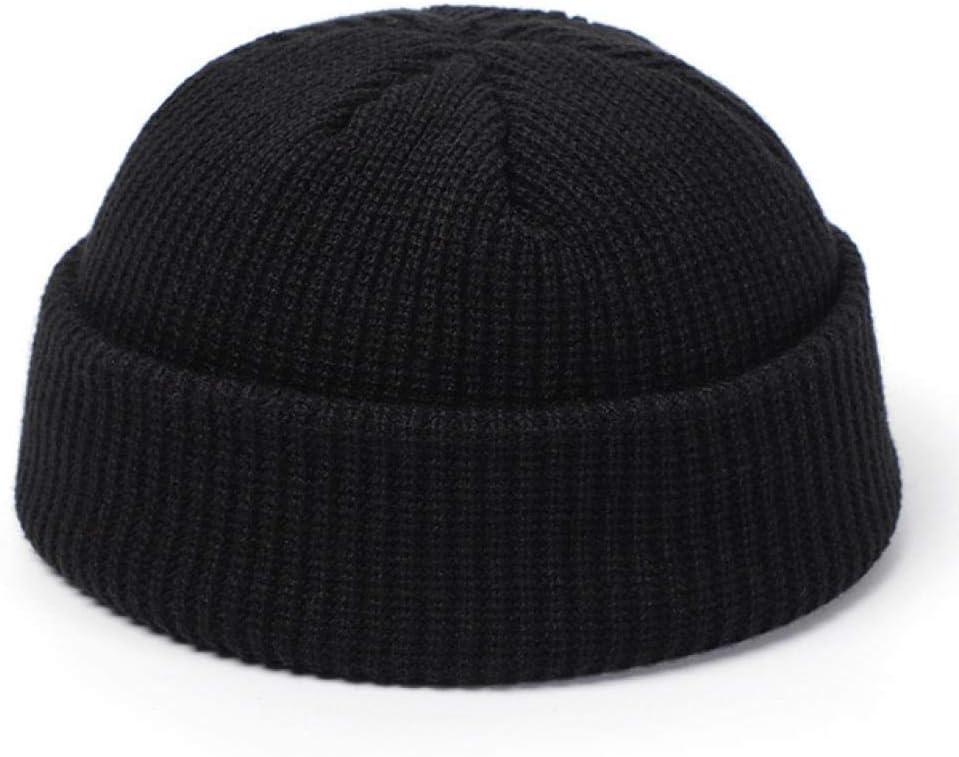 JIANGYA Chapeaux Tricot/és pour Les Femmes Skullcap Hommes Hiver R/étro Brimless Baggy Melon Cap Cuff Docker Fisherman Bonnets Chapeaux