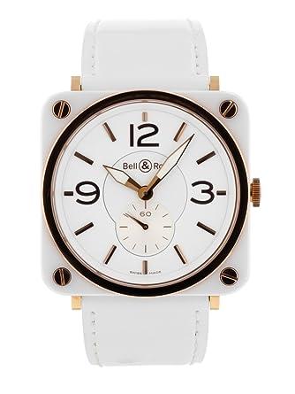 buy online ebc3f 8cbf8 Amazon | [ベル&ロス] BELL&ROSS 腕時計 BRS-WCPG-CA ホワイト ...