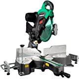 "Metabo HPT 12"" Sliding Compound Miter Saw, Double Bevel, Laser Marker, Compact Slide System, 15-Amp Motor, Large Sliding Fenc"