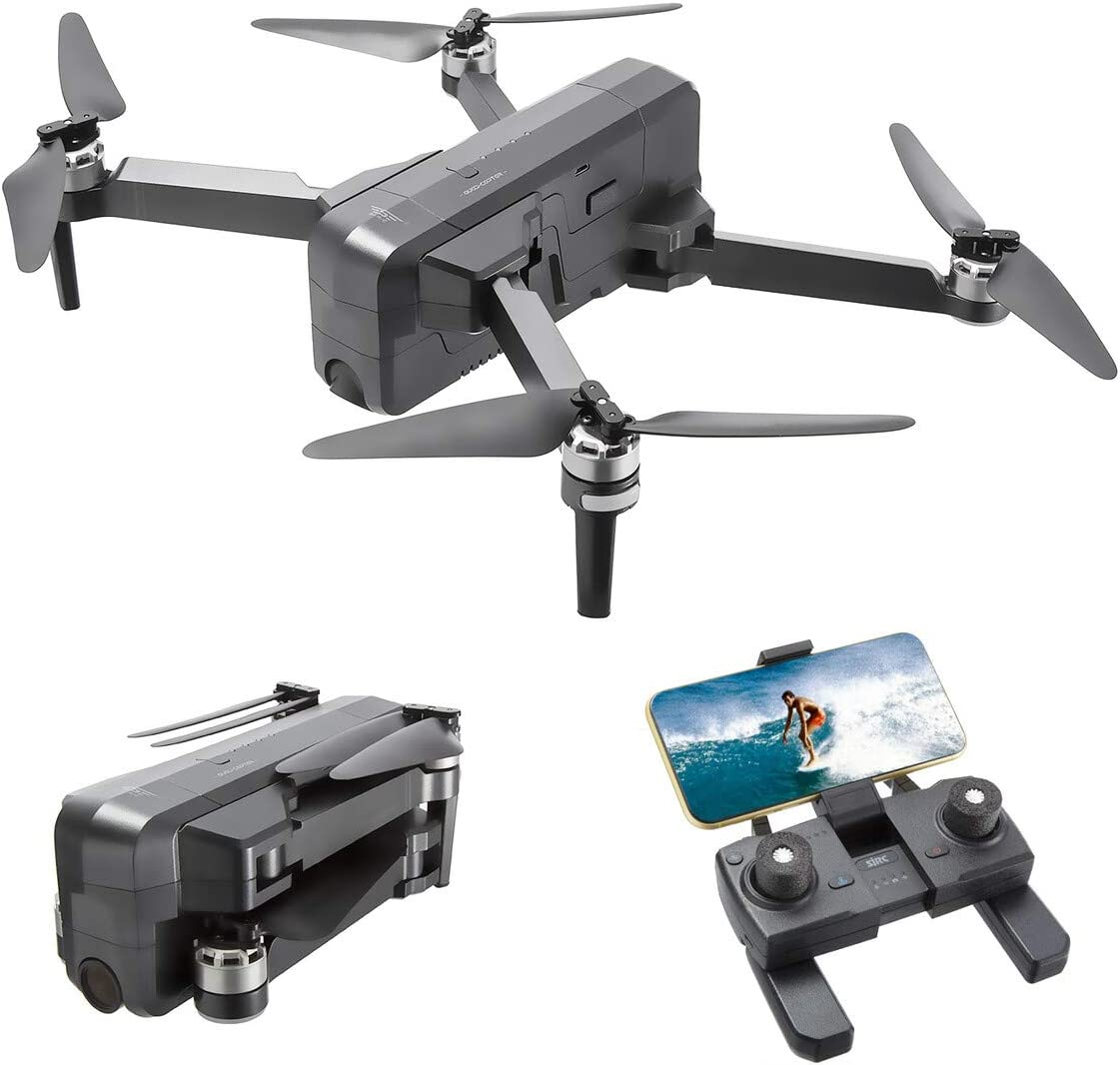 Powerextra F11 Pro Foldable GPS Drone with Camera for Adults, 4K 1080P HD Live Video Camera Drone for Beginners, Quadcopter with Brushless Motor, Auto Return Home, Follow Me, 60 Minutes Flight Time