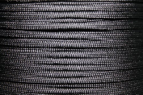 UPC 632687969211, 550lb Military Spec Paracord/Parachute Type 3 with 7 Internal Strands Made By A Government Approved Supplier in The U.S.A. (Black, 100 Feet)