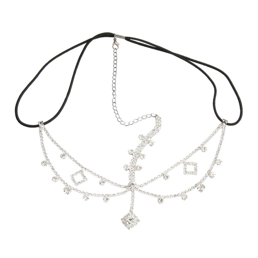 Diamante Crystal Rhinestone Dangle Women Forehead Hair Head Chain Headpiece Generic STK0156002043