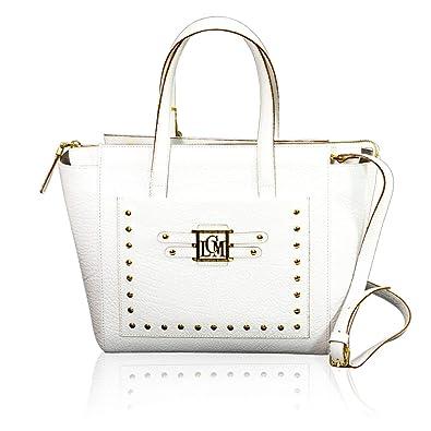b77b674b4e8e Amazon.com: Valentino Orlandi Italian Designer White Leather Studded ...
