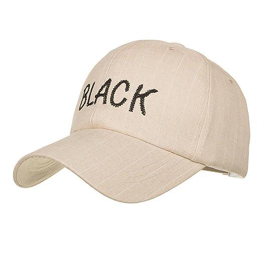 RNTOP Hat Unisex Men Women Adjustable Baseball Cap Sunscreen Snapback Hat  Unisex Cap (Beige) 9b2cc789c56e