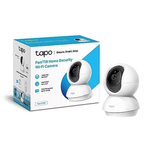 TP-Link Tapo C200 Cámara IP WiFi,Admite tarjeta SD de hasta 128 GB,Cámara de Vigilancia FHD con Visión Nocturna,Cámara de Mascota,Detección de ...