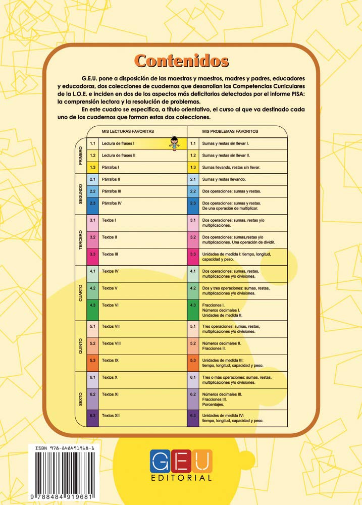 Mis Lecturas Favoritas 1.1: Jose Martinez Romero: 9788484919681: Amazon.com: Books