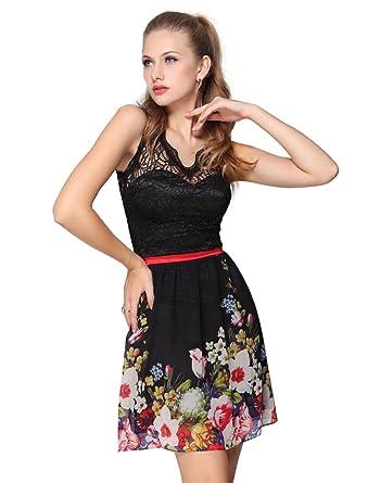 Ever-Pretty HE03662BK06 - Vestido para mujer, color negro, talla 34: Amazon.es: Ropa y accesorios