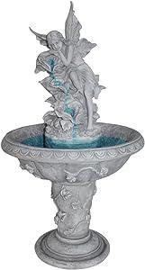 Water Fountain - Pixie Fairy Garden Decor Fountain - Outdoor Water Feature