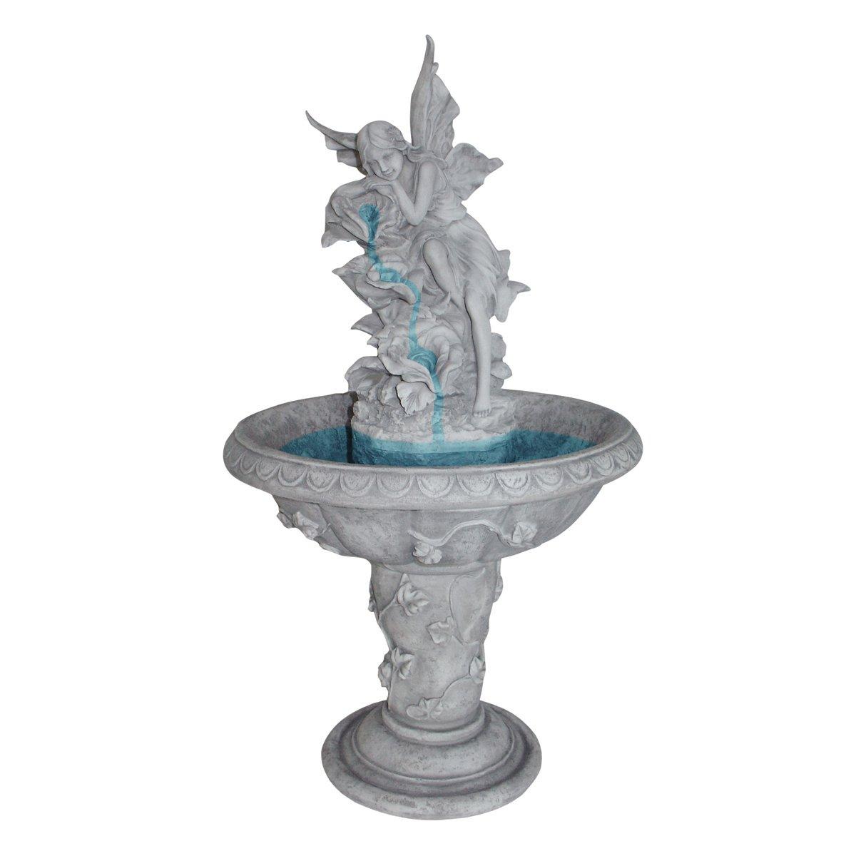 Design Toscano Pixie Fairy Sculptural Fountain, Antique Stone