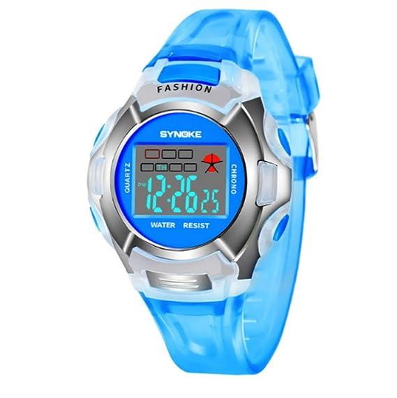 Reloj de pulsera para adolescentes, resistente al agua, para niños, niñas, LED