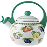 Villeroy & Boch French Garden Kitchen Bollitore, 2 L, Metallo, Multicolore/Verde