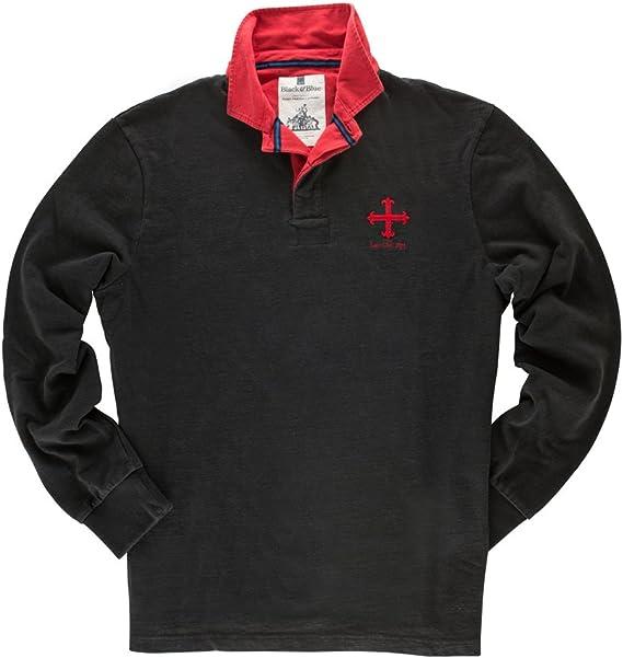 Black & Blue 1871 - Polo de Rugby de Manga Larga Modelo Law Club ...