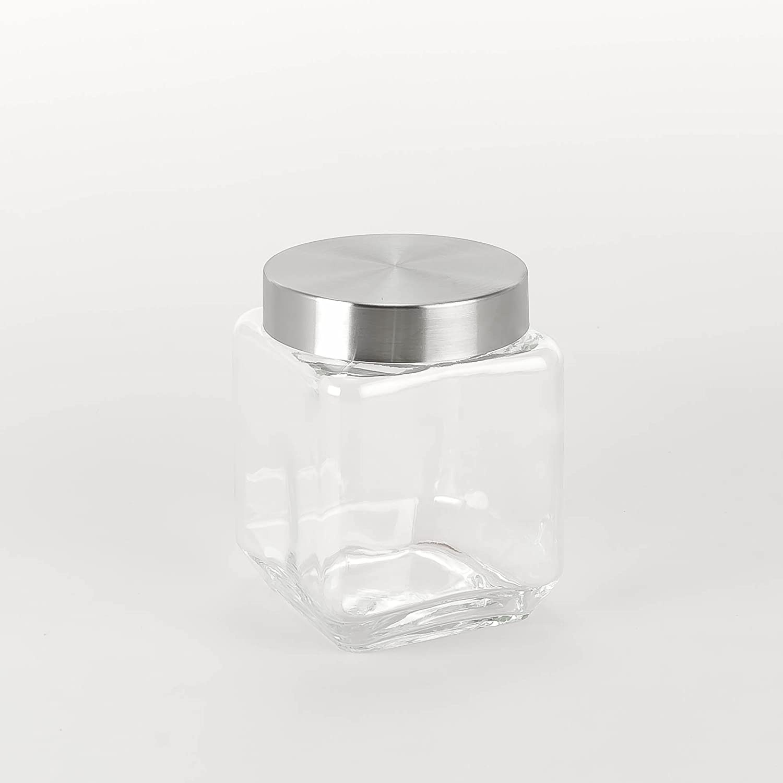 Bote de Cristal 1150 ml 11.5x15cm Cristal: Amazon.es: Hogar