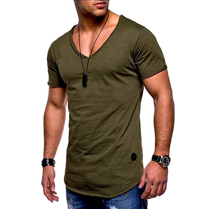 Men t Shirt Slim Fit t-Shirt Men Skinny Casual Summer Tshirt Camisetas Hombre