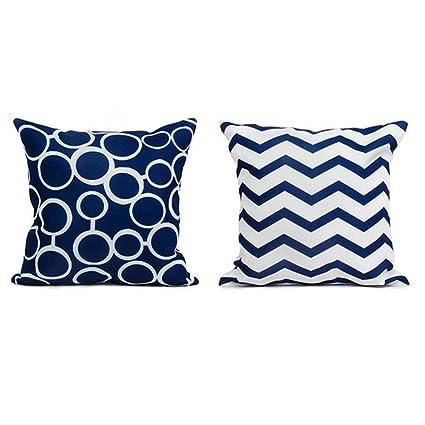 Amazon Com Top Finel Square Decorative Cushion Covers Soft Canvas
