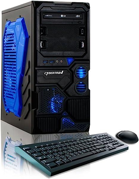 Amazon Com Cybertronpc Borg Q Gaming Desktop Amd Fx 4300 3 8ghz Quad Core Nvidia Geforce Gt 710 8gb Ddr3 Memory 1tb Hdd Dvd Rw Microsoft Windows 10 Home 64 Bit Computers Accessories