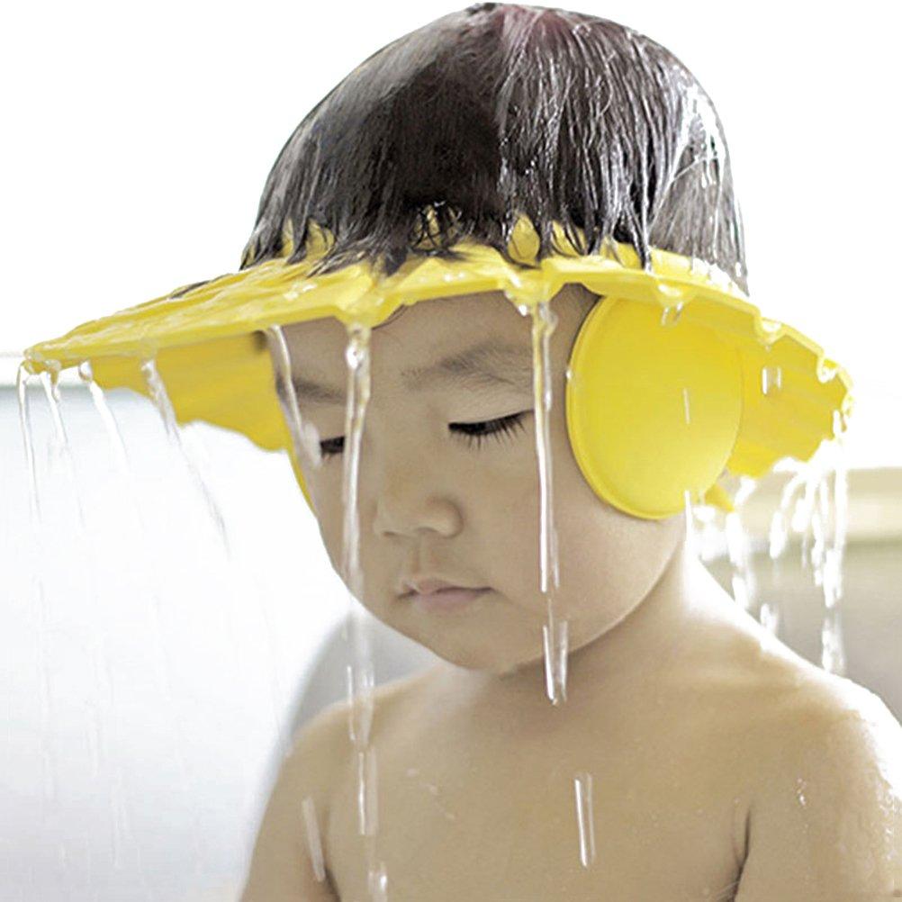 OUNONA Gorro de Ducha// Ba/ño para Beb/é Gorro Protector para Lavar el Cabello de Ni/ño Protecci/ón para los O/ídos Amarillo